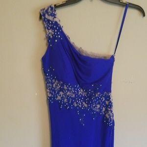 Cobalt blue evening gown/prom dress